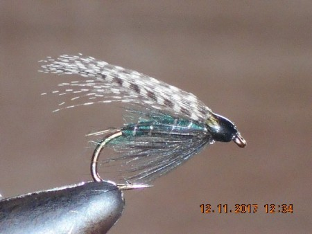 Teal & blue wet fly