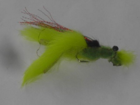 Chernobyl crab chartreuse fly