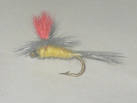 Bright wing parachute cream dry fly