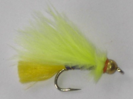 Tungsten marabou fluorescent yellow