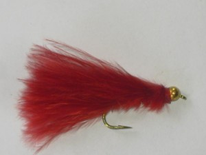 Tungsten marabou streamer red
