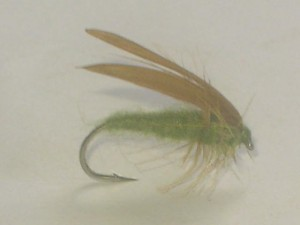 Slow water caddis gray olive