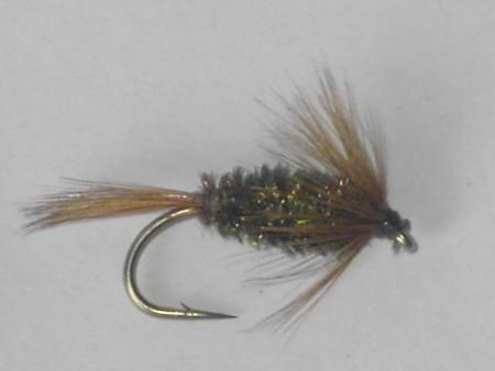 Brown hackle & peacock