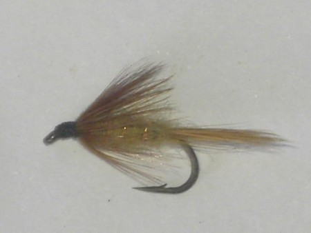 Brown tan spider wet fly