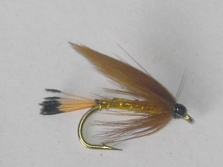 Cinnamon & gold wet fly