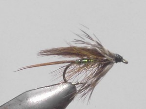 Green peter wet fly