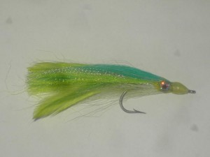 Big eye baitfish chartreuse