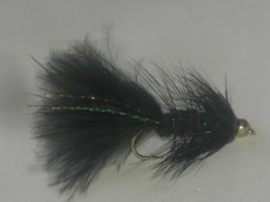 B.h wooley bugger black