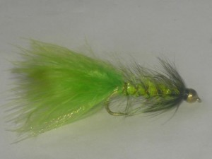 B.h wooley bugger chartreuse