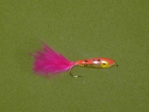 Fly di minnow rosa resina epossidica