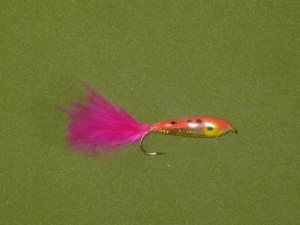 Moscas de epoxi minnow color rosa