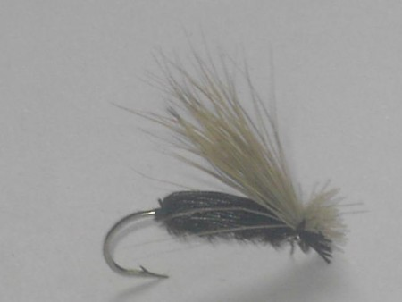 Flying beetle black dry fly