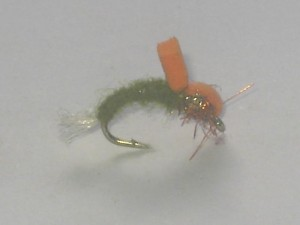 Foam orange emerger