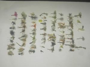 75 les mouches sèches assortis