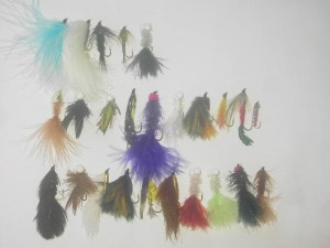 25 Assorted streamers fly fishing flies