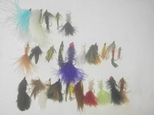 25 moscas de pesca con mosca de serpentinas surtidas