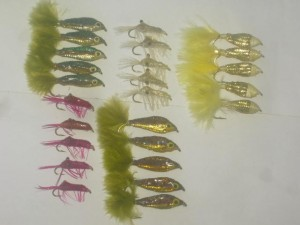 25 Assorted epoxy minnows flies