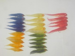 25 Assorted mini baitfish flies