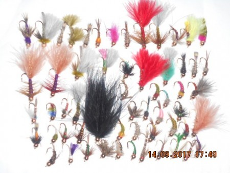 Assorted selection tungsten nymphs flies