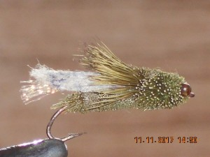 Cicada trout fly olive