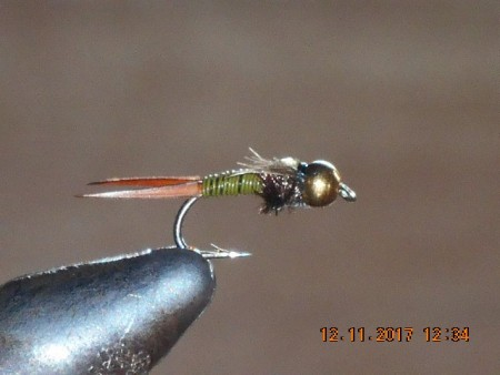 Bead head copper john olive