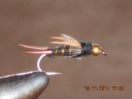 Bead head dark lord fly