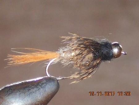 Bead head red fox squirrel nymph