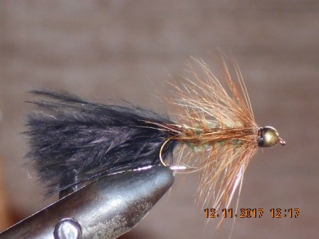 Bead head wolley bugger black olive