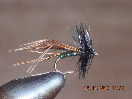 Hopper dry fly black