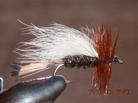 Trude peacock dry fly