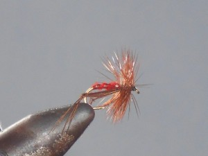Hopper fly red