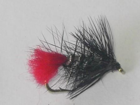 Black zulu wet fly