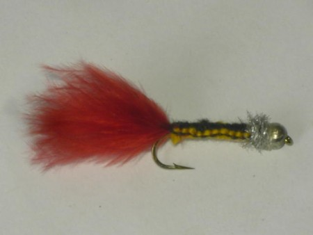 Silver bead head woven fly