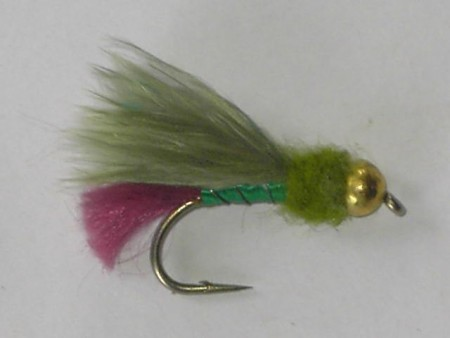 Tungsten marabou purple tail