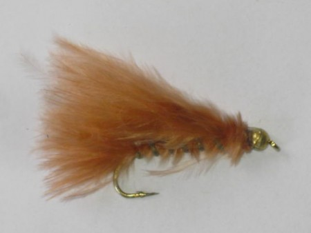 Tungsten marabou streamer brown