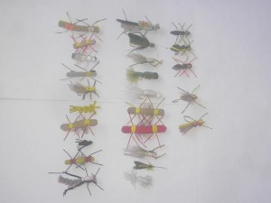 25 Assorted Foam fly fishing flies