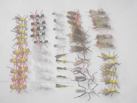 50 Assorted Foam fly fishing flies