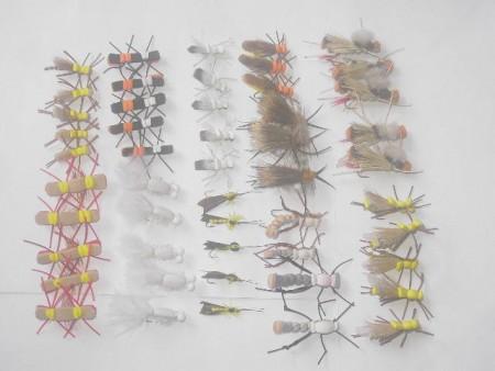 50 verschiedene Schaum Fliegenfischen fliegen