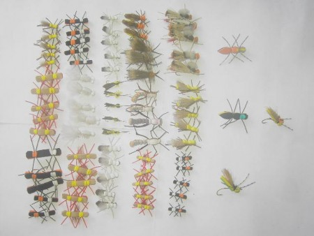 100 Assorted Foam fly fishing flies