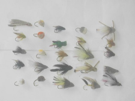 25 assorted muddlers fishing flies