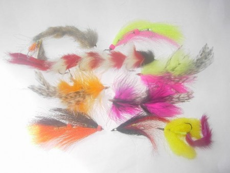 50 assorted tandem pike flies