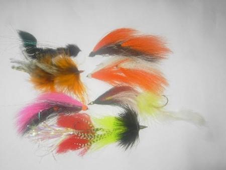 100 mosche di luccio tandem assortiti