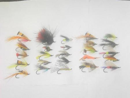 Berbagai macam Salmon terbang memancing lalat