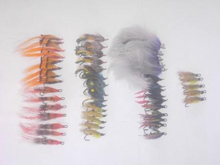 50 assortiti Salmon Fly Fishing mosche