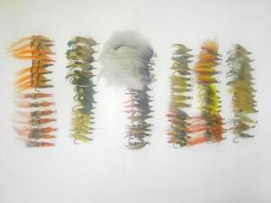 75 Assorted Salmon fly fishing flies