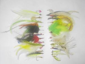 50 Assorted Saltwater fly fishing flies
