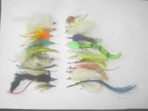 75 Assorted Saltwater fly fishing flies