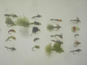 25 Assorted tungsten bead head fly fishing flies