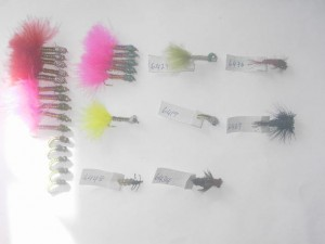 50 Assorted woven fly fishing flies